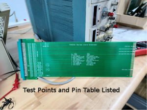 Tektronix TM500 extender card with test points and gold edge card contacts.