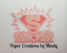 CRAFTECAFE MINDY SUPER MOM MOTHERS DAY premade paper piecing scrapbook TITLE