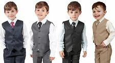 e647d45aa Boys Suits 4 Piece Waistcoat Suit Wedding Page Boy Baby Formal Party 4  Colours