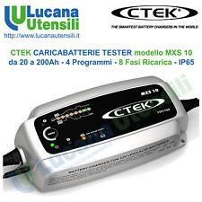 CTEK CARICABATTERIE modello MXS 10 - 20-200Ah - 4 Programmi 8 Fasi AGM GEL Acido