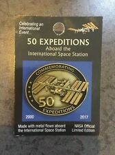 NASA flown space metal ISS space station pin 50 missions