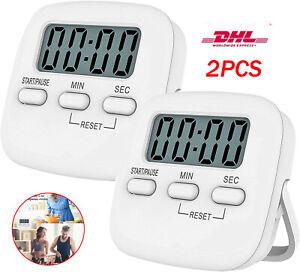 2x Kurzzeitmesser Küchentimer Küchenwecker Stoppuhr mit Magnet Eieruhr Digital