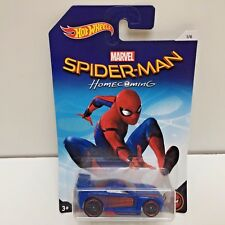 Hot Wheels Diecast Car, Spider-Man Homecoming, POWER RAGE, Blue New in Pkg