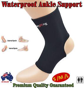 Waterproof Ankle Support Brace Fracture Sport Foot Strap Stabiliser Compression