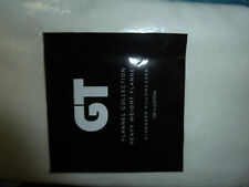 TWO (2) IVORY HEAVY WEIGHT 100% COTTON FLANNEL  PILLOWCASES, STD SIZE, NEW