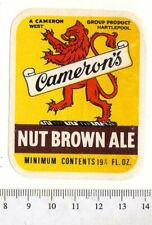 UK Beer Label - Cameron's Brewery - Hartlepool - Nut Brown Ale