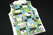 Vintage 70s Natric Knit Tricks Abstract Shirt Blouse Geometric Mod Gogo Hippie