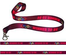 BINGO LOTTERY WINNER SATIN LANYARD NECK STRAP RIBBON id badge holder metal clip