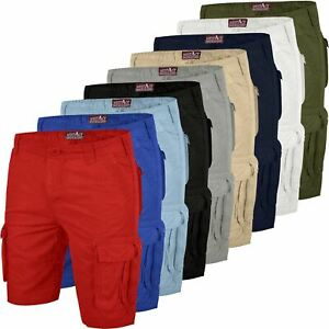 Mens Army Cargo Combat Shorts Pants Pockets Causal All Sizes King Big Bottoms