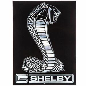 Shelby Cobra Embossed Black Snake Sign * Man Cave, Garage or Shop * Free US Ship