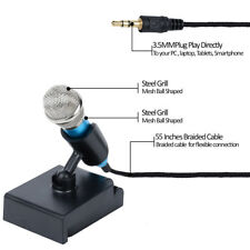 Mini Microphone for iPhone Mini Condenser Microphone with Holder Useful FA3