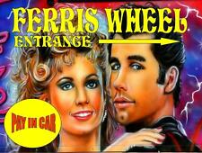 Ferris Wheel  Vinatge Style Metal Sign Kitchen Grease Fairground Sign