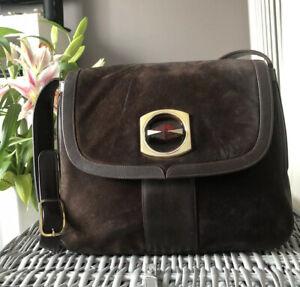 Lovely Designer Genuine Giampiero Pelletterie Firenze Suede Shoulder Bag Handbag