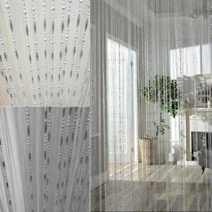 Dew Drop Chain Bead Curtain String Door Room Divider Fly Bug Screen Tassel 1Mx2M