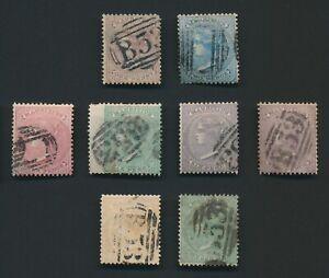 MAURITIUS STAMPS 1860 QV NO WMK SET TO 1/- GREEN, SG #46/53, SUPERB F/VFU