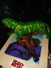 He-Man Battle Cat Green Tiger Masters of The Universe MOTU Mattel 1983