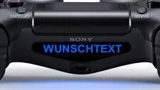 2x Ps4 Controller Sticker Mit Wunschtext Aufkleber Playstation 4 Decal