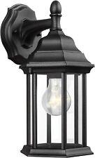 Generation Lighting Kent 1-Light Black Outdoor Wall Fixture 84031-12