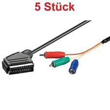 1 Meter Skart Scart Kabel Adapter Stecker auf 3x Cinch Chinch YUV RGB Component