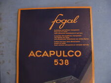 Fogal Style 538 Acapulco Sheer Toe-to-Waist Pantyhose Size Medium in Stratos
