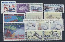 Grönland Jahrgang 1994 postfrisch in den Hauptnummern kompl.....................