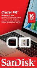 SanDisk 16GB CRUZER FIT USB Memory Stick Flash Pen Drive Tiny Small USB 2.0