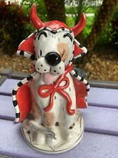Blue Sky Clayworks Dog Red Devil Trick or Treat House Heather Goldmine Tea light