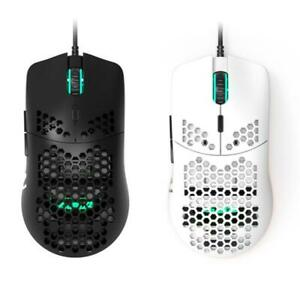 AJ390 Lightweight Wired Mouse Hollow-out Gaming Mouce Mice 6 DPI Adjustable 7Key