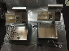 2 miteinander gekoppelte Bizerba SC 800 Ladenwaagen Fleischerwaage + Kassen