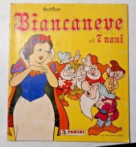 ALBUM FIGURINE PANINI BIANCANEVE e i 7 NANI 1987 INCOMPLETO 15 FIGURINE MANCANTI