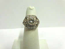 w/accents sz 4.50 wgt 4.8 grms moissanite ring sterling silver 2 carat solitaire