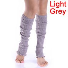 Fashion Women Lady Winter Long Leg Warmers Knit Crochet Leggings Stockings 3c Fishnet Socks