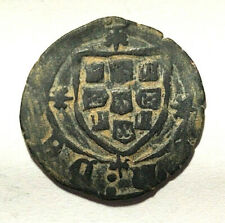 Medieval Portugal 1457-1459AD, CEITIL of Afonso V, scarce! Castle & Crest