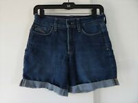 womens blue NYDJ NOT YOUR DAUGHTERS JEANS shorts jean denim cuffed XS 0