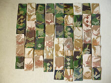 BRITISH ARMY RANK SLIDES DEALERS LOT OF 60  (LOT1)