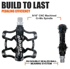 SMS Magnesium Alloy Mountain Bike Pedal Comfort Widen Bicycle Pedals 9/16in