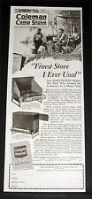 1926 OLD MAGAZINE PRINT AD, COLEMAN CAMP STOVES, FINEST STOVE EVER USED, HOGG!