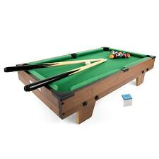 27'' Table Top Pool Game Toy Set Kids Adults Family Xmas New Billiard Balls Cue