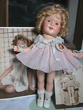 "Early Ideal Composition Shirley Temple Doll Ex Condition 13"" Rare tag with Pin"