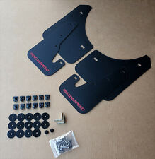 [SR] 04-09 Mazdaspeed 3 & Mazda 3 Mud Flaps Kit BLACK w/ Hardware & Vinyl Logo