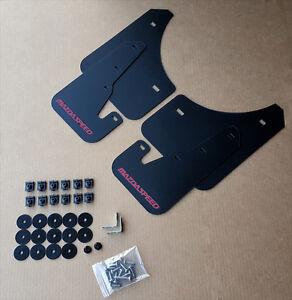 [SR] 04-09 Mazdaspeed 3 & Mazda 3 Mud Flaps Kit BLACK w/ Hardware & Vinyl Logo