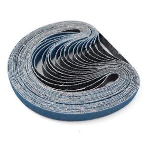 New Set Zirconia Abrasive 330x10mm Sanding Grit For Metal Long Belts 60 20pcs