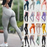Women's High Waisted Yoga Pants Seamless Leggings Gym Fitness Workout Trousers O