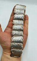 Vintage Modernist Brutalist Sterling Silver Bracelet Hallmarked 73g