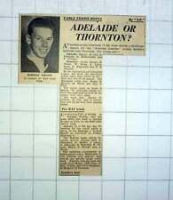 1951 Table Tennis Norman Groom In London Raf Trials