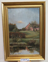 Landscape Danish Painting Antique Painting oil On Linen First 900 Denmark R95