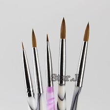 5 Dental Porcelain Ceramic Ermine Brush Pen Set Dental Lab Equipment