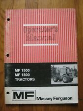 Massy Ferguson MF 1500 1800 4-Wheel Drive tractor operators manual ORIGINAL