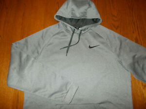 NIKE DRI-FIT HEATHER GRAY HOODED SWEATSHIRT MENS XXLT EXCELLENT CONDITION