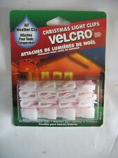 All Weather 20 VELCRO LIGHT CLIPS White Plastic Christmas Lights Hanging Qty.2